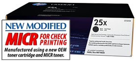 25X MICR Toner Cartridge